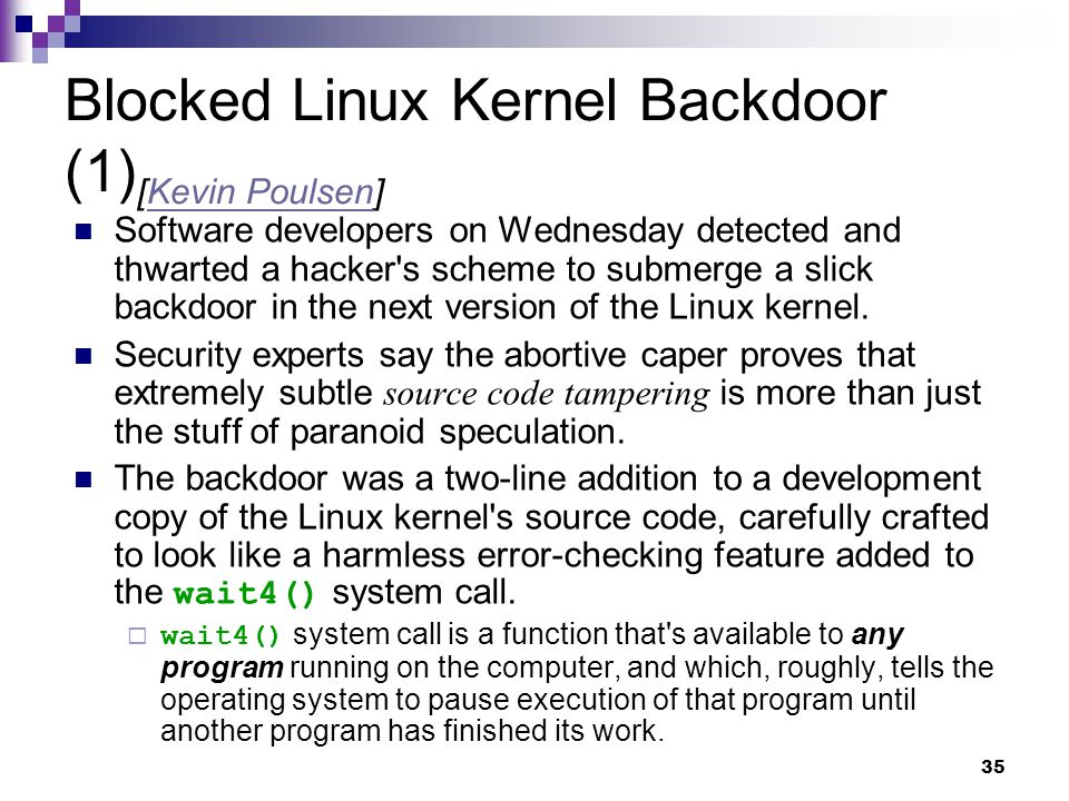 Blocked Linux Kernel Backdoor (1)[Kevin Poulsen]